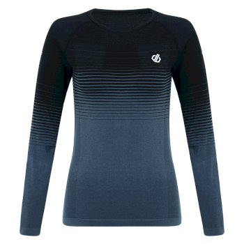 In The Zone Performance Langärmeliges Baselayer-Top für Damen Schwarz