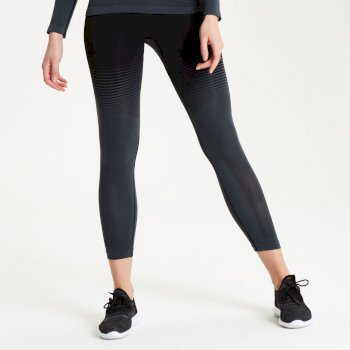 In The Zone Performance Baselayer-Leggings für Damen Schwarz