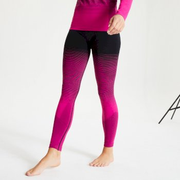 Dare 2b Women's In The Zone Performance Base Layer Leggings - Active Pink Black