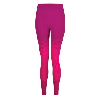 In The Zone Performance Baselayer-Leggings für Damen Cyberpink Farbverlauf