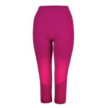 In The Zone Performance Baselayer-Leggings mit 3/4-Länge für Damen Cyberpink Farbverlauf
