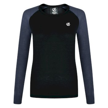 Exchange langärmeliges Thermo-Baselayer-Top für Damen Schwarz