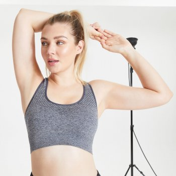 Dare2B Dont Sweat It Sports Bra - Ebony Grey