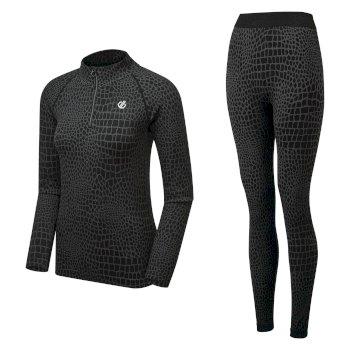 Dare 2b Swarovski Embellished - Women's Symbolise Luxe Base Layer Set - Black Croc