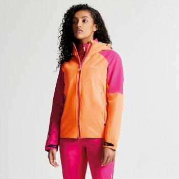 Dare 2b Women's Veter Lightweight Waterproof Jacket - Orange Burst Pink Fusion
