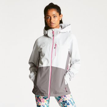 Dare 2b Women's Verate Waterproof Jacket - Cyberspace Smokey Grey
