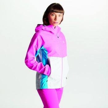 Sierra Seamsmart - Damen Jacke - leicht & wasserdicht Cyber Pink Argent Grey