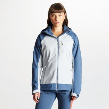 Veritas - Damen Jacke - leicht & wasserdicht - abnehmbare Kapuze Argent Meteor Grey