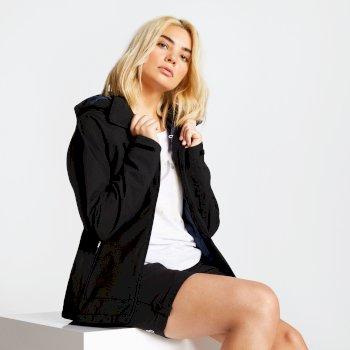 Veritas - Damen Jacke - leicht & wasserdicht - abnehmbare Kapuze Schwarz