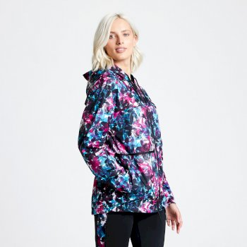 Dare2b Deviation Waterproof Jacket - Active Pink Botanical Print