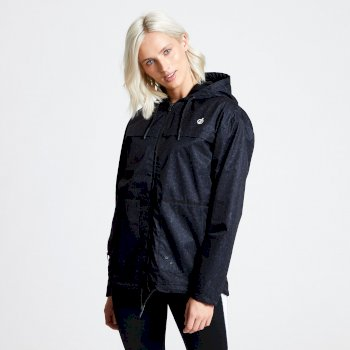 Dare2b Deviation Waterproof Jacket - Black Molecular Print