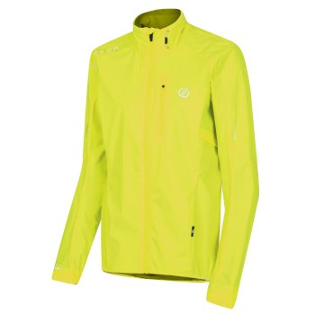 Dare 2b Women's Mediant Lightweight Reflective Waterproof Shell Jacket - Fluro Yellow
