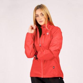 Mediant Leichte Reflektierende Wasserdichte Shell-Jacke Für Damen Rosa