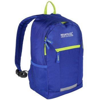 Regatta Kids' Jaxon lll 10L Rucksack - Oxford Blue Lime Zest