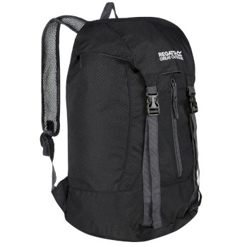 Regatta Easypack II 25L Lightweight Packaway Backpack Rucksack Black