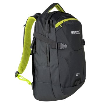 Regatta Paladen 20 Litre Laptop Backpack Rucksack Ebony Neon Spring