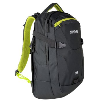 Regatta Paladen 25L Laptop Backpack - Ebony Neon Spring