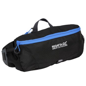 Regatta Quito Internal Organiser Relefective Trim Hip Pack Black French Blue