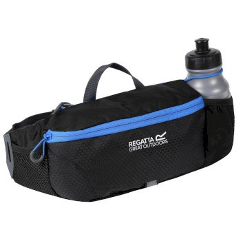 Regatta Quito Bottle Hip Pack Black French Blue