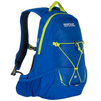 Regatta Blackfell II 20 Litre Hydration Backpack Rucksack Oxford Blue Lime Zest