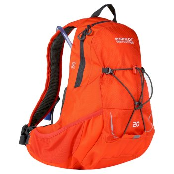 Regatta Blackfell II 20 Litre Hydration Backpack Rucksack Amber Glow Ebony
