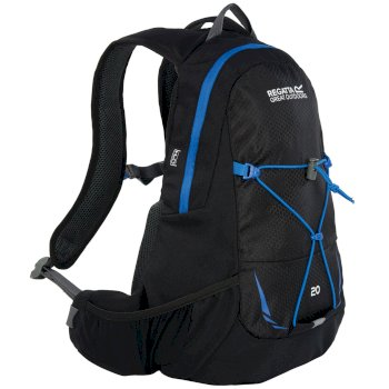 Regatta Blackfell II 20 Litre Hydration Backpack Rucksack Black French Blue