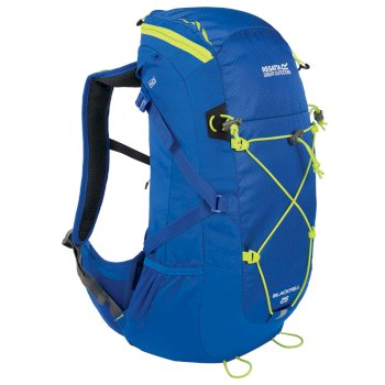 Regatta Blackfell II 25 Litre Backpack with Hydration Storage Pocket Oxford Blue Lime Zest