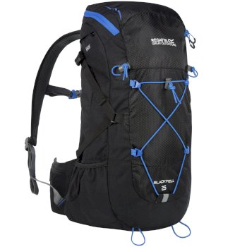 Regatta Blackfell II 25 Litre Backpack with Hydration Storage Pocket Black French Blue