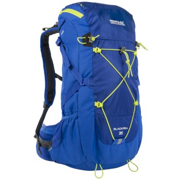 Regatta Blackfell II 35 Litre Backpack with Hydration Storage Pocket Oxford Blue Lime Zest
