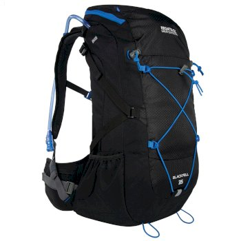 Regatta Blackfell II 35 Litre Backpack with Hydration Storage Pocket Black French Blue
