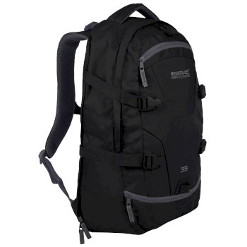Paladen 35 Litre Laptop Backpack Black Ebony