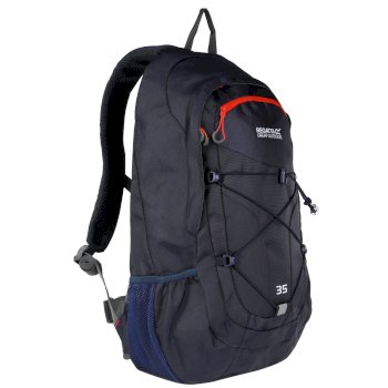 Regatta Atholl II 35 Litre Backpack Rucksack Dark Denim Amber Glow