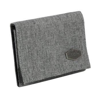 Burford dreigeteiltes Portemonnaie grau