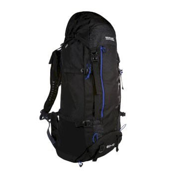 Regatta Blackfell III 60+10L Expandable Rucksack - Black Surfspray