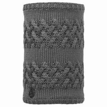 Buff Knitted Neckwarm - Savva Grey