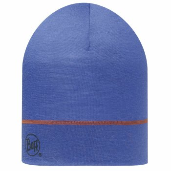Buff Merino 1 Layer Hat - Blue Ink