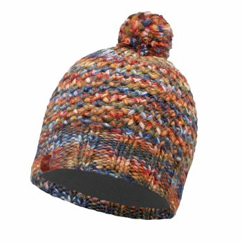 Buff Knit Polar Fleece Hat - Margo Orange