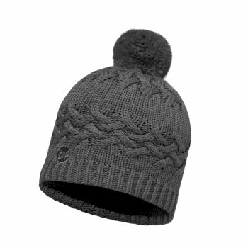Buff Polar Knit Hat - Grey