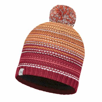 Buff Knit Polar Fleece Hat - Neper Red Samba