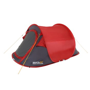 Regatta Malawi 2 Man Pop Up Festival Tent Red Grey