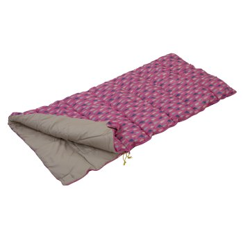 Regatta Maui Kids Polyester Lined Sleeping Bag - Pretty Pink Print