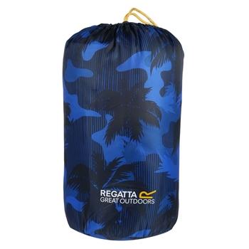 Regatta Maui Kids Polyester Lined Sleeping Bag Oxford Blue Palm Tree Print
