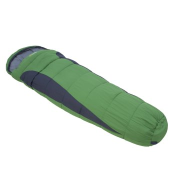 Regatta Hilo 250 Lined Ripstop Mummy Sleeping Bag - Extreme Green