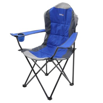 Regatta Kruza Padded Folding Camping Chair with Storage Bag - Nautical Blue