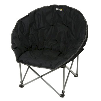 Regatta Castillo Padded Folding Lounge Chair Black