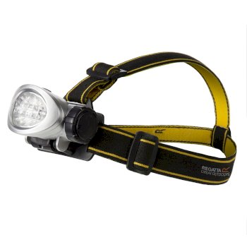 Regatta 10 LED Head Torch - Black Seal Grey