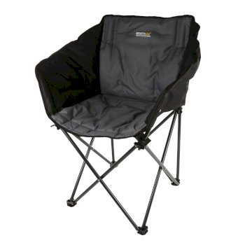 Regatta Navas Lightweight Folding Camping Chair with Storage Bag - Black Seal Grey