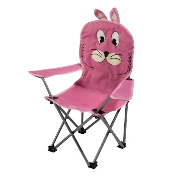 Kids Animal Lightweight Folding Camping Chair - Rabbit Pink