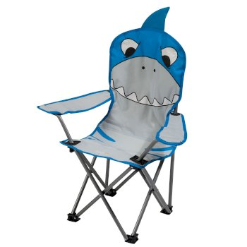 Kids Animal Lightweight Folding Camping Chair - Shark Blue