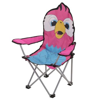 Regatta Kids Animal Lightweight Folding Camping Chair - Parrot Pink